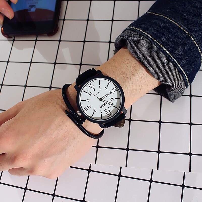 Đồng hồ thời trang nam JSM CsC41 dây da ( Không kèm vòng )
