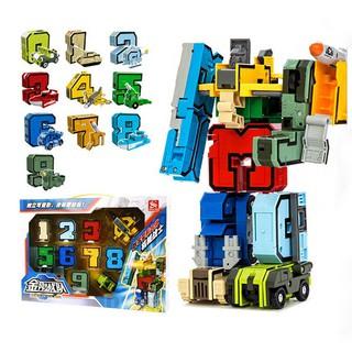 Set 10 mảnh ghép hình chữ số ghép hình robot cho bé thumbnail