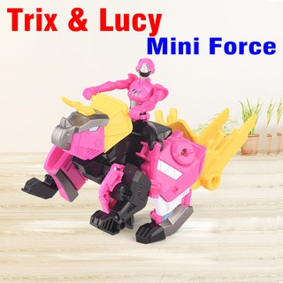 Đồ Chơi Mô Hình Mini Force Khủng Long Trix Hào Quang Hộ Vệ Và Siêu Nhân Lucy Tốt Bụng 304008