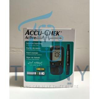 Máy đo đường huyết Chính Hãng Accu Chek Active thế hệ 4 - Tặng kèm khẩu trang Famapro 4 lớp (túi 10 cái) thumbnail