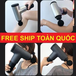 Máy Massage Fascial Gun 4 Đầu 6 Chế Độ. Đánh Tan Mỡ. Trị Nhức Mỏi Vai Gáy. Đau Giãn Căng Cơ.