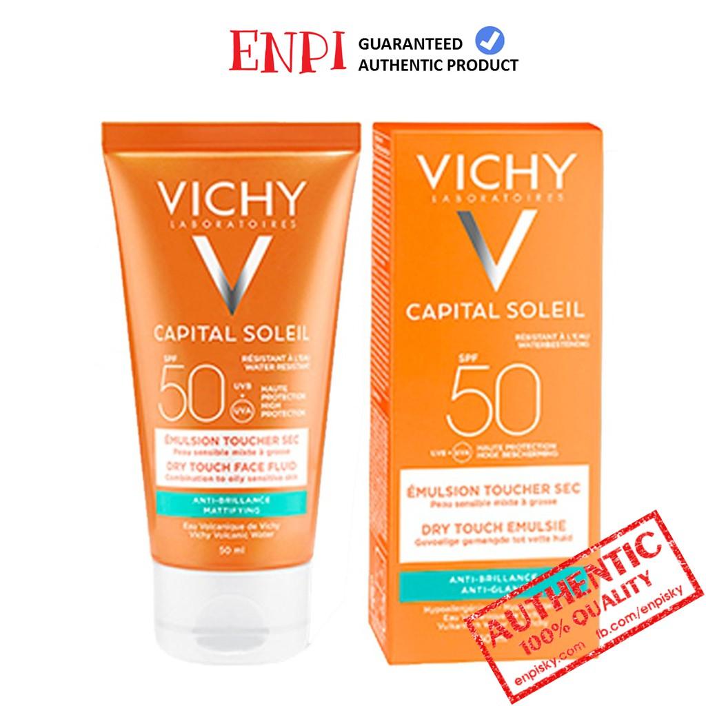 [Mẫu mới] Kem chống nắng Vichy Ideal Soleil Mattifying Dry Touch Face Fluid SPF 50