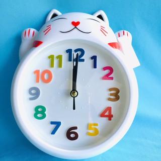Đồng hồ báo thức để bàn con mèo LY 1144A (trắng)