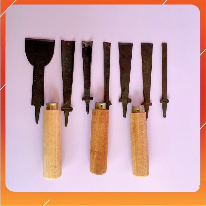 Đục gỗ Kim Khí Dung Anh đục gỗ cầm tay tặng kèm chuôi gỗ lim siêu bền