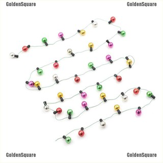 1m Dollhouse Miniature A String of multi-coloured plastic Christmas round light [GoldenSquare]