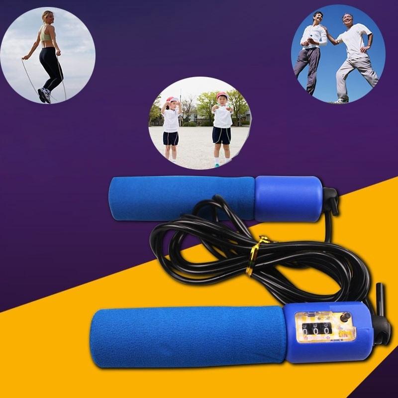 Dây nhảy luyện tập thể thao có tay cầm đếm số siêu tiện lợi