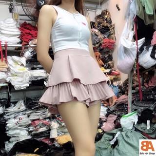 Yêu ThíchChân váy tầng quảng châu xếp li nhiều màu có túi_chân váy có quần