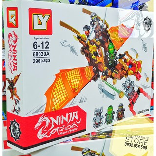 Lego LY-68030A Lắp Ráp Thuyền NinjaGo ( 296 Mảnh )