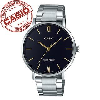 Đồng hồ nam dây kim loại Casio Standard chính hãng Anh Khuê MTP-VT01D-1BUDF