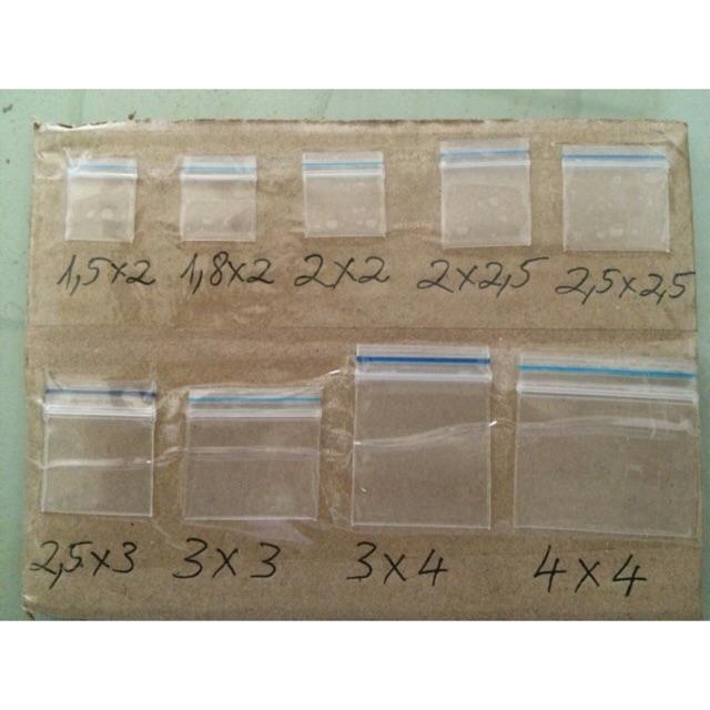 Combo 8 bịch Túi zip, túi miết đầu để đựng hoá chất giá chỉ 250