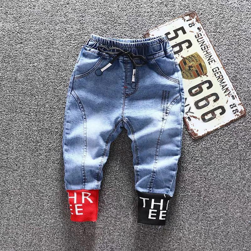 Quần bò bé trai, quần jean bé trai bé gái phong cách size 12-26kg