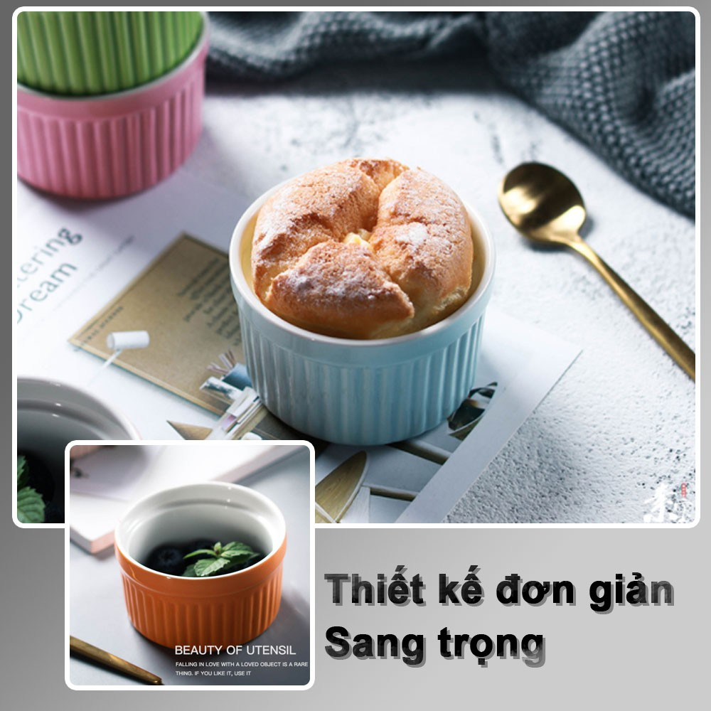 8 màu] Hũ sứ merakin SALE Cốc sứ khuôn sứ làm bánh flan caramen dụng cụ làm  bánh, ramekin đa sắc chịu nhiệt bỏ lò - Dụng cụ làm bánh Nhãn hiệu