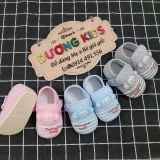 [Đế kép]Giày tập đi cho bé trai và bé gái đế kép cao su mềm hình mickey DK0200MK thumbnail