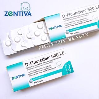 [Mã FMCGLUX giảm 120K đơn 1tr5] Vitamin D-Fluoretten 500IE dạng viên Đức hộp 90 viên thumbnail