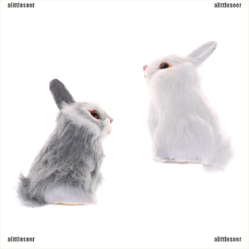 Thỏ Nhồi Bông Màu Trắng Trang Trí Xinh Xắn