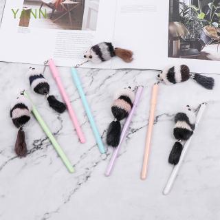 YANN Cute Rat Stationery Writing Supplies Fluffy Mouse Pendant Signature Gel Pen