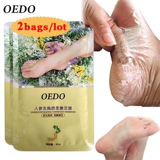 Set 2 mặt nạ ủ da chân OEDO thành phần tự nhiên loại bỏ lớp da khô cứng làm sáng da chân