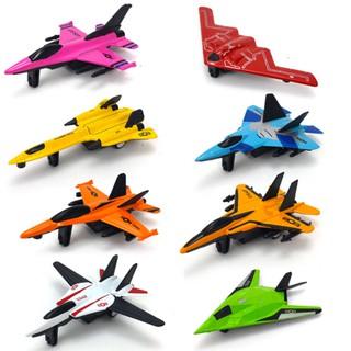 1PC Mini Simulate Cartoon Alloy Airplane Modeling Toy Random Color Style