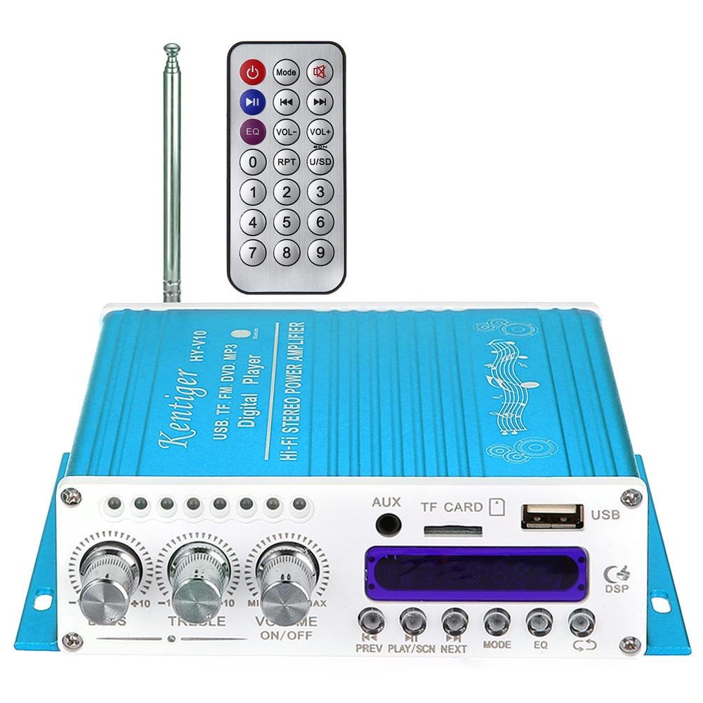 Professional Stereo Bluetooth Wireless Digital Portable Hi-Fi Power Remote Control Audio Amplifier