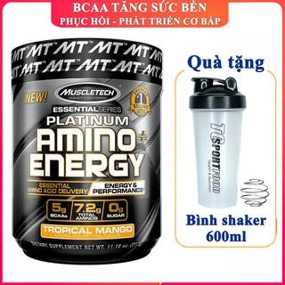 BCAA Platinum Amino Plus Energy của Muscle Tech hương Xoài hộp 30 lần dùng hỗ trợ phục hồi cơ, giảm cân, đốt mỡ thumbnail