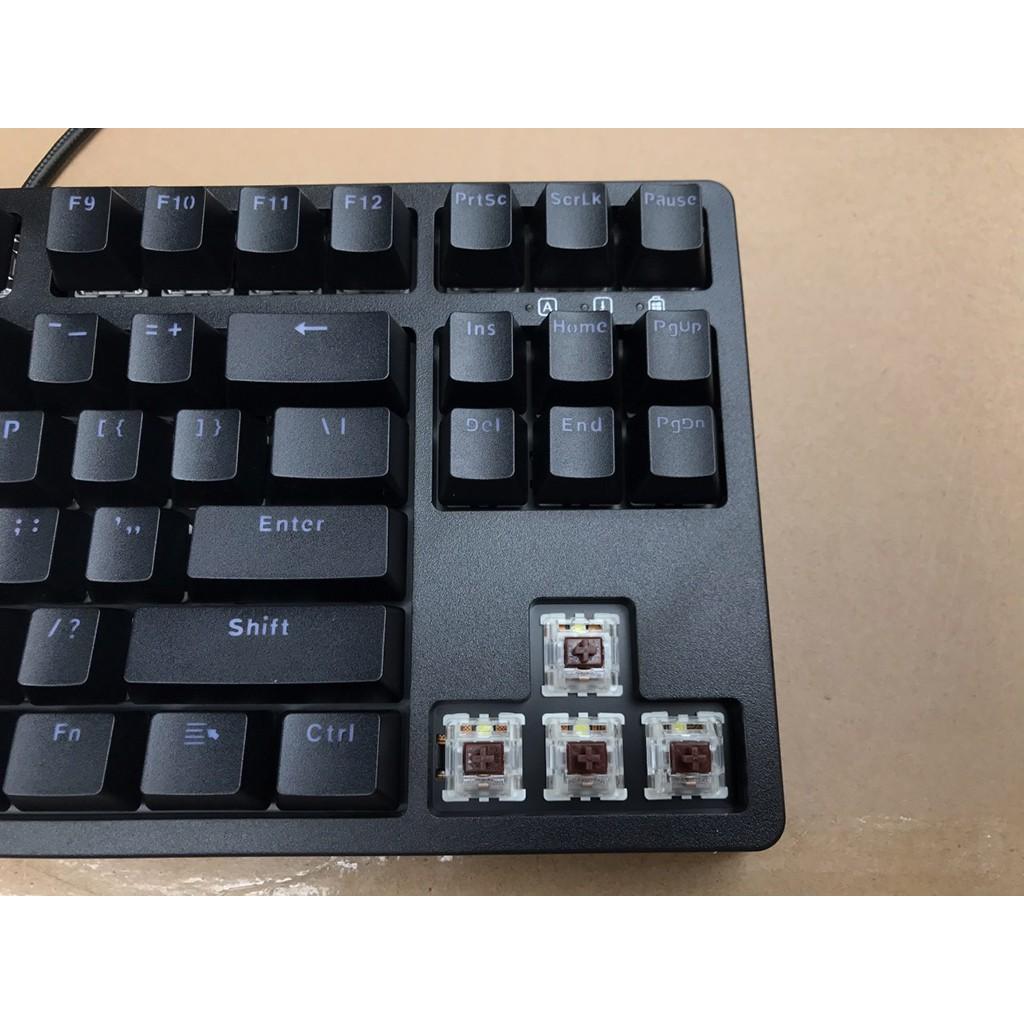 Bàn phím cơ Edra EK387 Gateron Switch - Phiên Bản 2021 - Tặng Keycap cờ đỏ sao vàng, tấm phủ bàn phím - Bảo hành 2 Năm