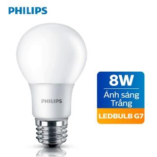 Bóng đèn Philips LED cao cấp siêu sáng tiết kiệm điện 8W E27 230V A60 - Ánh sáng vàng Ánh sáng trắng thumbnail