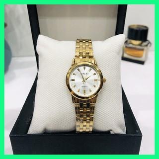 Đồng hồ nữ HALEI chống nước dây vàng bền màu