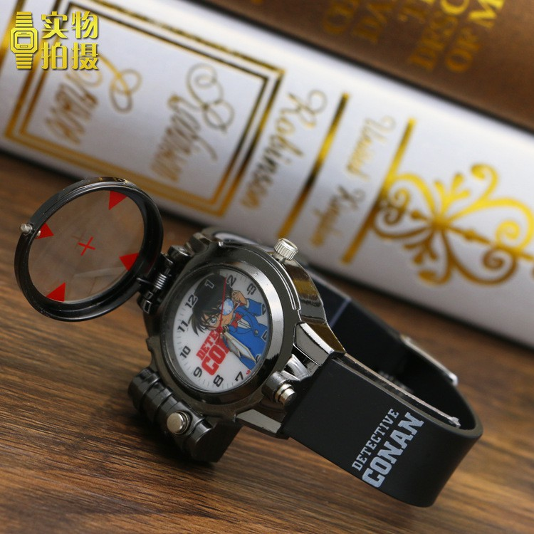 [Mã FAMAYFA2 giảm 10K đơn 50K] Đồng hồ bé trai conan mới combo ( Kính lúp thám tử conan )
