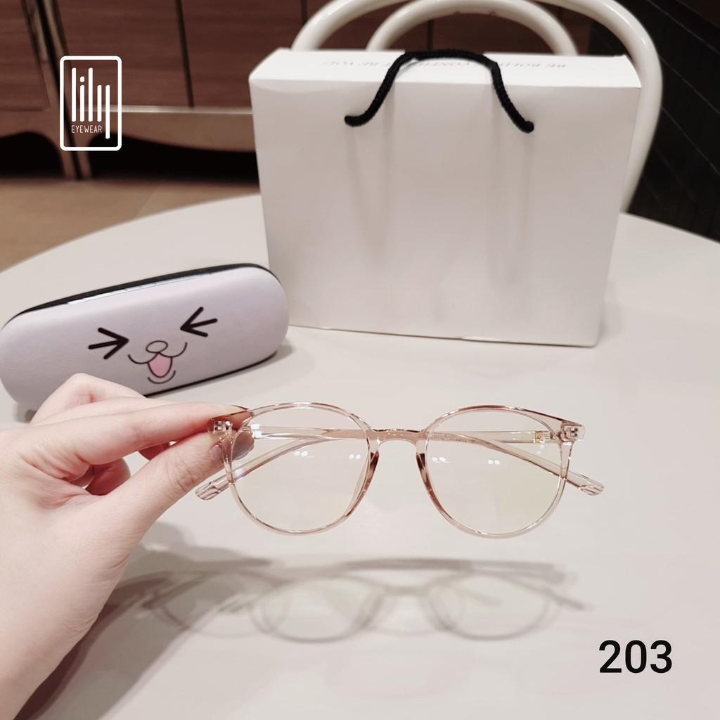 Gọng kính tròn chất liệu nhựa dẻo phụ kiện thời trang nữ Lilyeyewear 203 nhiều màu