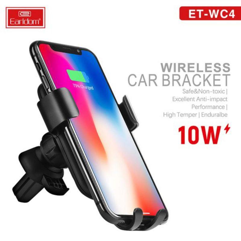 Kẹp điện thoại khiêm sạc không dây trên ô tô Earldom W10