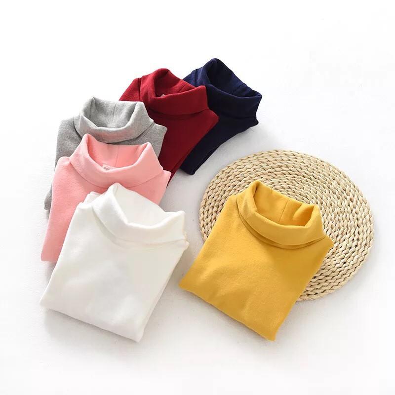 Áo cotton cổ lọ cho bé trai/ bé gái