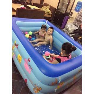 Bể bơi cho gia đình🔥FREESHIP🔥 Giảm ngay 5k khi nhập [bephaoboi] bể bơi 3 tầng 1.3m có đáy chống trượt