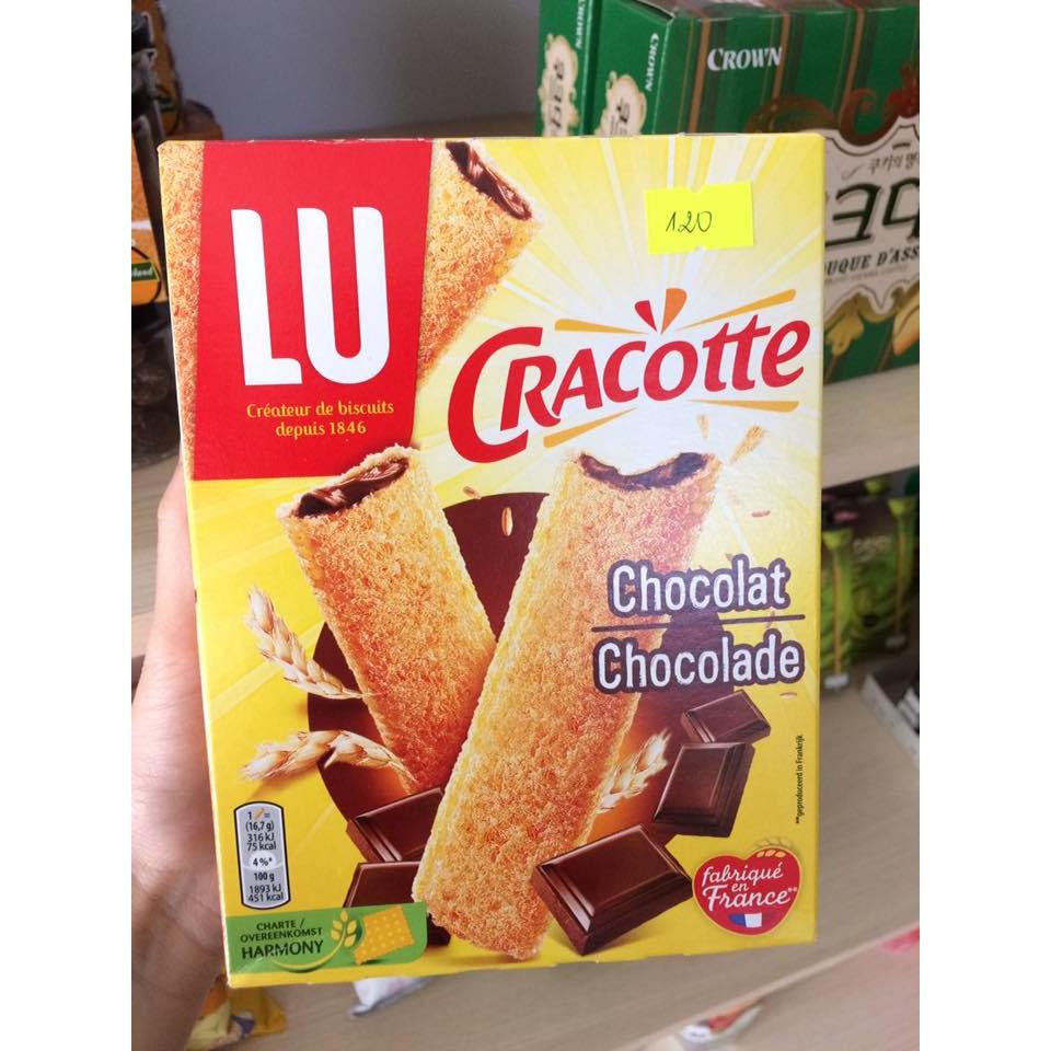 Bánh mì nướng nhân sốt socola LU Cracotte