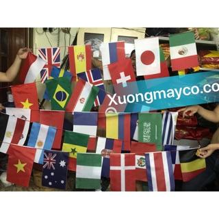 Cờ dây 32 nước World Cup (ảnh thật )