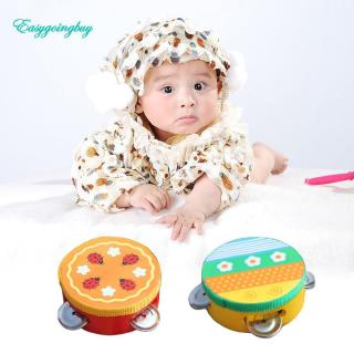 Toy ♡ Educational Cartoon Musical Tambourine Beat Instrument Hand Drum Baby Toys