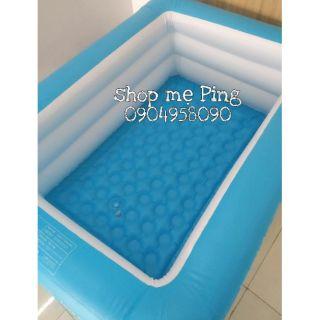 Combo bể bơi 3 tầng 1m5 + bơm điện + phao cổ