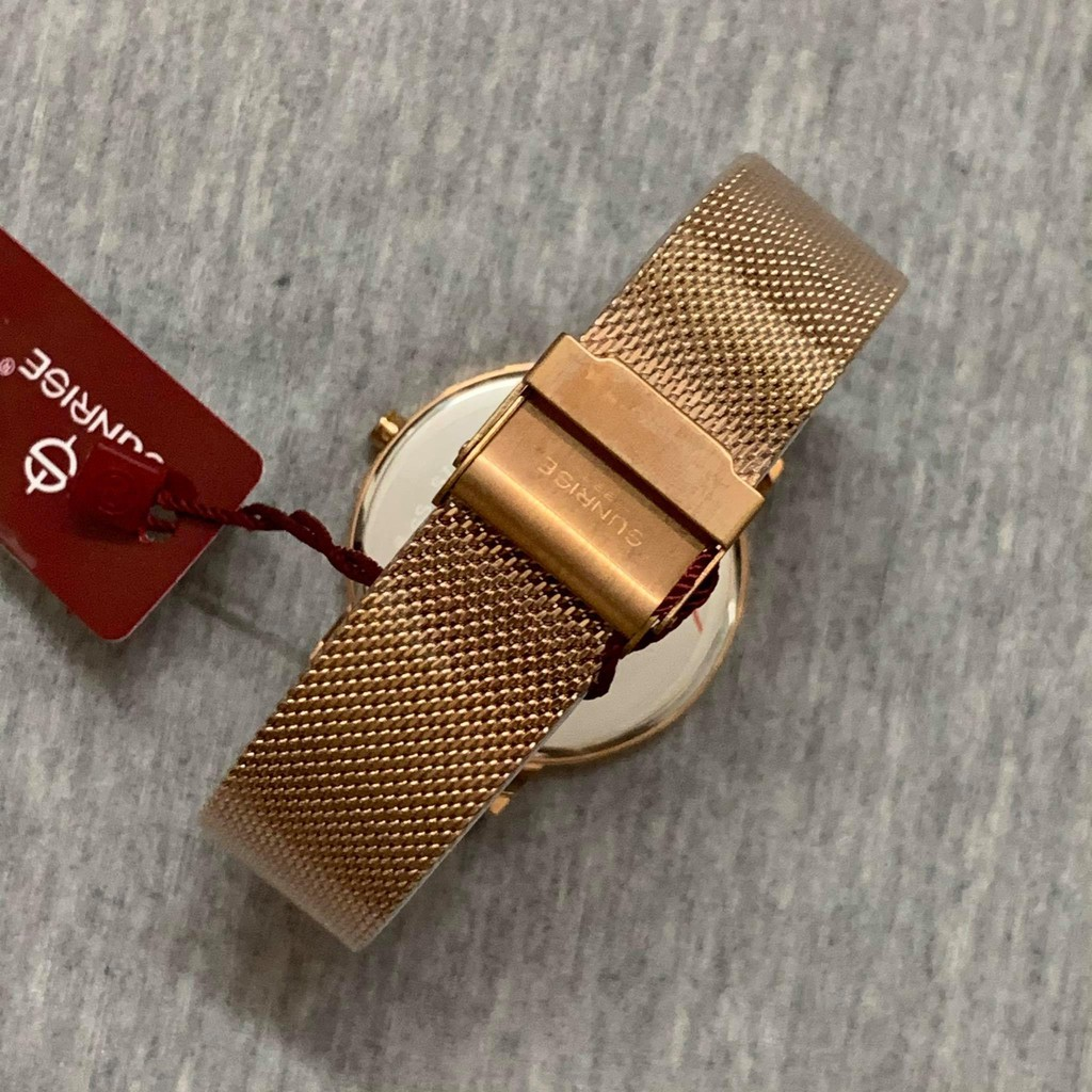 Đồng hồ Sunrise Nam chính hãng Nhật Bản M1198RG.T - kính saphire chống trầy - bảo hà