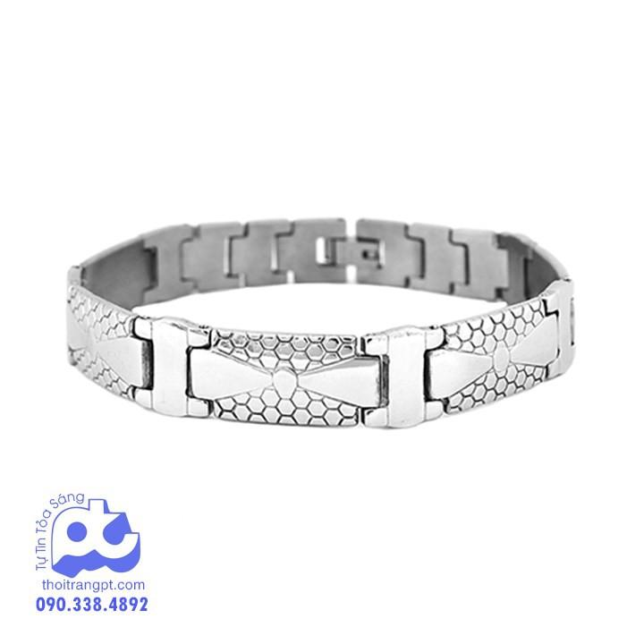 Lắc tay nam inox không đen giá rẻ HCM - PT_LT_98
