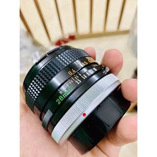 lens Canon FD 28mm f3.5 bản SC, ngàm FD , canon fd 28f3.5, lens góc rộng cho canon FD, dùng cho canon AE1, FTB, A1