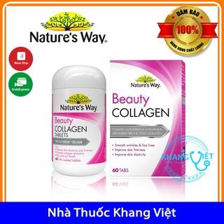 Viên uống đẹp da bổ sung collagen Nature s Way Beauty Collagen chính hang ÚC 60 viên thumbnail