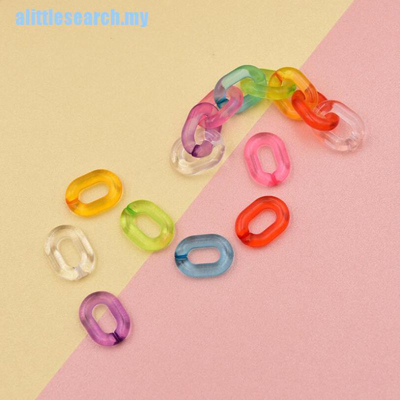 Set 100 dây xích Acrylic nối mắt kính nhiều màu DIY