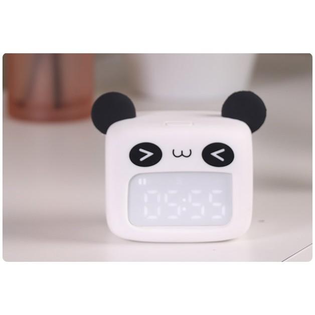 Đồng hồ báo thức mini world gấu Panda