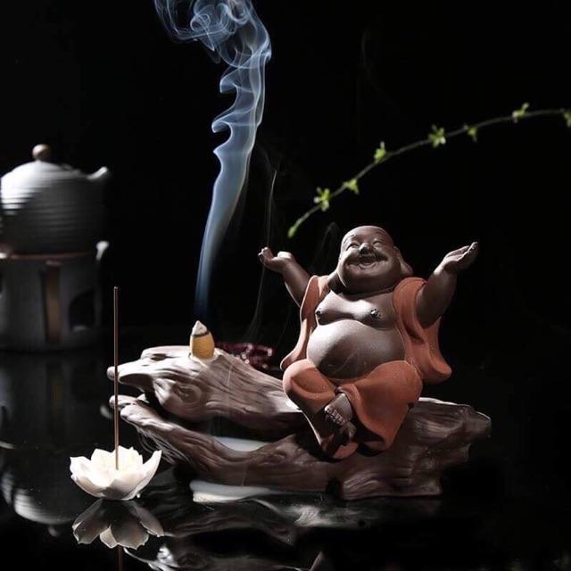 Thác khói Phật Di Lạc hoan hỉ 2 áo