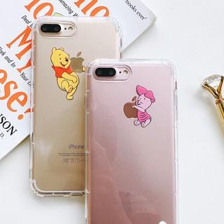 Ốp Điện Thoại Hình Gấu Pooh Đáng Yêu Cho Iphone Xs Xr Max I 6 I 7 I 8 7 Plus 8 Plus 6