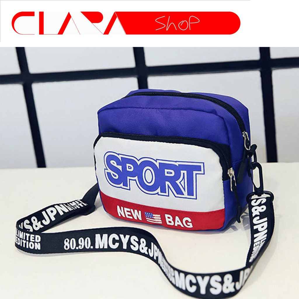 Túi Vải Đeo Chéo Sport TX41363 (Xanh-Đỏ)