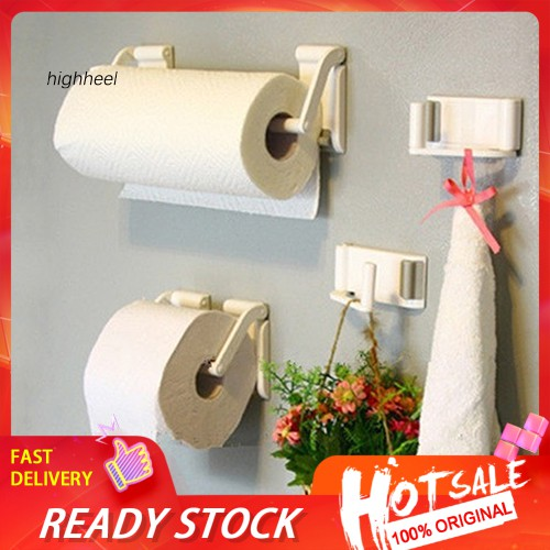 【HHEL】Creative Magnetic Adjustable Paper Towel Stand Holder Kitchen Bathroom Rack