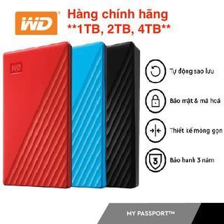 Ổ cứng di động WD My Passport USB 3.2 -1TB, 2TB, 4TB- Hàng Chính Hãng