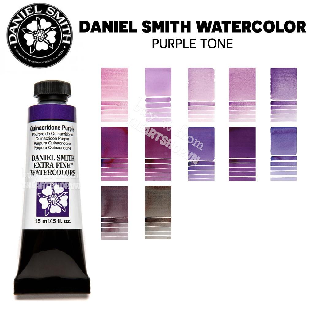 (P4) Màu nước DANIEL SMITH dạng tuýp 5/15ml (Bán lẻ) - PURPLE TONE