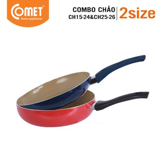 [Mã HLCOMET12 giảm 15% tối đa 50K đơn 100K] Combo 2 chảo đáy từ Ceragold COMET - CH15-24&CH25-26 thumbnail