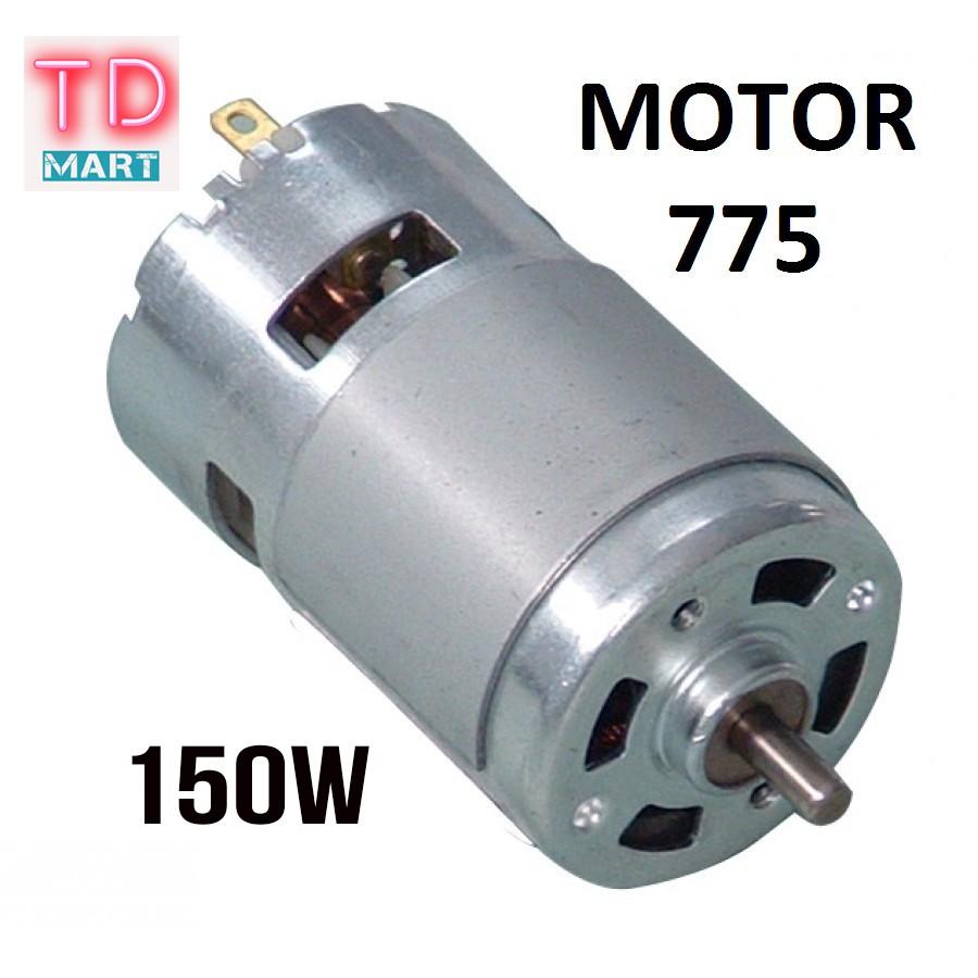 motor 775 150w, 16k vòng 100% dây Đồng có bạc đạn trên 12-24v